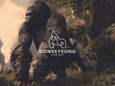 DONKINGKONG LINE ART branding design graphic design king kong apparel king kong drawing king kong line art king kong logo