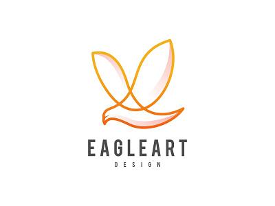 EAGLEART typography icon flat logo design graphic design branding eagle tatoo eagle line art eagle design eagle logo