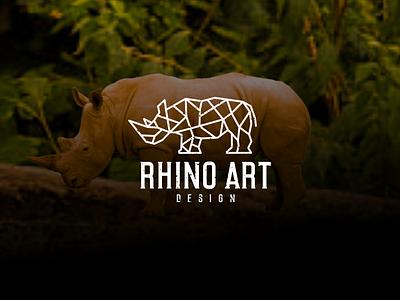 RHINO ART DESIGN logo design graphic design branding rhino cool rhino line art rhino tsirt rhino design rhino logo rhino