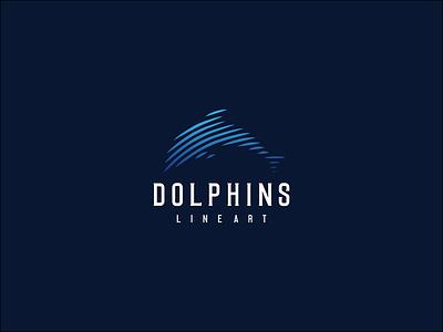 DOLHHINS LINE ART dolphin apparel typography icon flat logo design graphic design branding dholphins line art dholphins logo