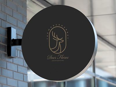 DEER LINE ART logo typography design graphic design branding deer line art