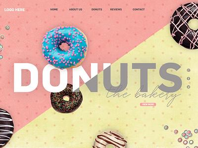 Web Donuts illustration ui branding website web design graphic design adobe