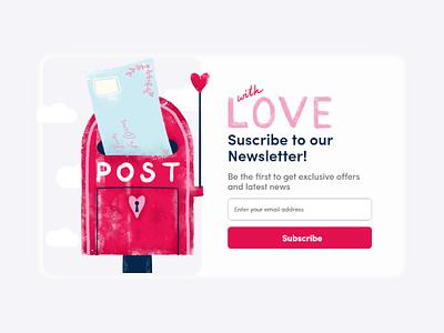 #DailyUI 026 Subscribe Love ui challenge post graphic design dailyui design adobe dribbble subscribe