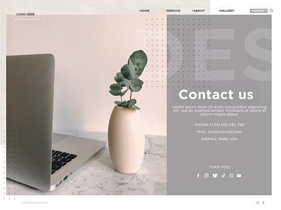 #DailyUI 028 Contact Us ui graphic design adobe plants design website web contact contactus send