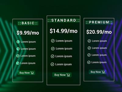 #DailyUI 030 Pricing ui website graphic design web design adobe table pricing