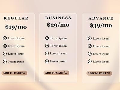#DailyUI 030 Pricing ui logo website web graphic design design adobe design. table pricing