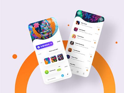 Messenger Design UI messenger panel player ui appdesign app design appdesigner podcast chat