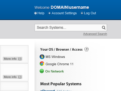 Systems Portal 1 wip intranet