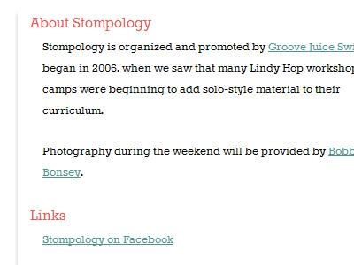 Website (Detail) stompology