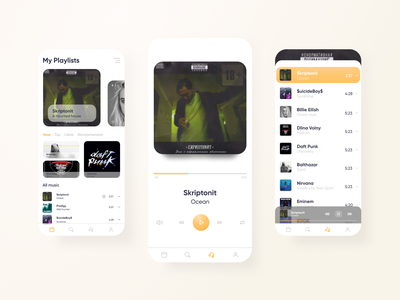 Music Mobile App music mobile interface ui minimal design