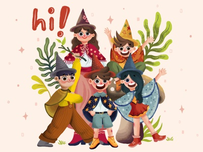 hi! - Children Book Illustration design bright playful design kids kids illustration character design character books children book illustration child children childrens book illustration