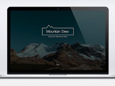 Mountain Dew - Logo and Website Concept madebyderprinz website logo