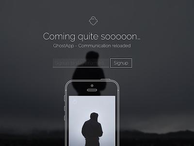 GhostApp - Coming Soon Page Concept madebyderprinz landingpage webdesign