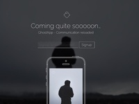 GhostApp - Coming Soon Page Concept