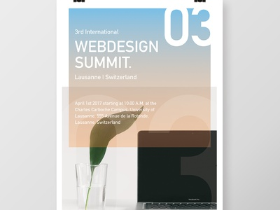 Event Poster - Webdesign Summit madebyderprinz poster