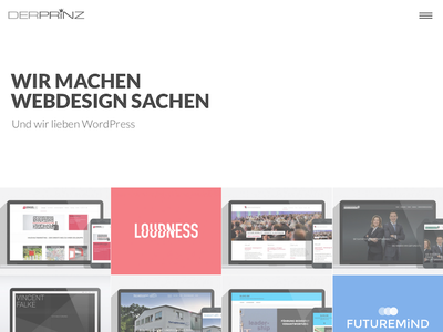 DER PRiNZ Homepage 2017 madebyderprinz website redesign