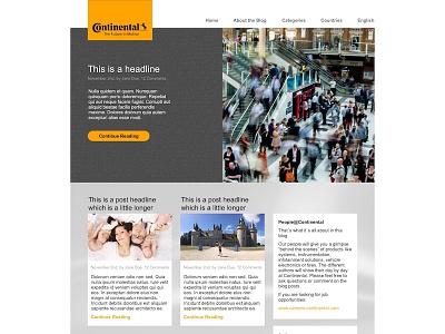 Continental People Blog Homepage madebyderprinz blogdesign continental webdesign