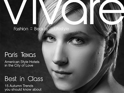 Vivare magazine cover concept photography concept cover magazine