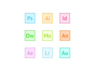 Adobe Apps Icons