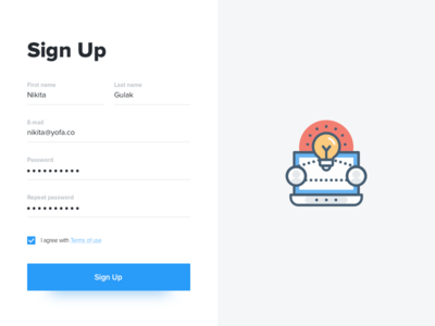Daily UI #1 - Sign Up form dailyui