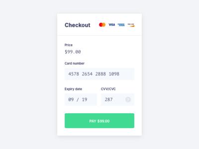 Daily UI #2 - Card Checkout dailyui