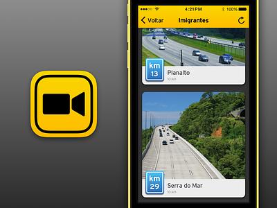 Traffic Cams iOS App app ios traffic roads
