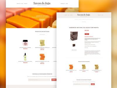 Savon de Juju Website Redesign website webdesign redesign