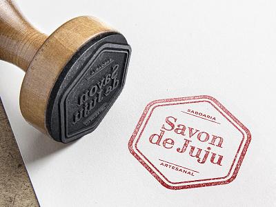 Savon de Juju Logo logo brand savon de juju stamp rubber