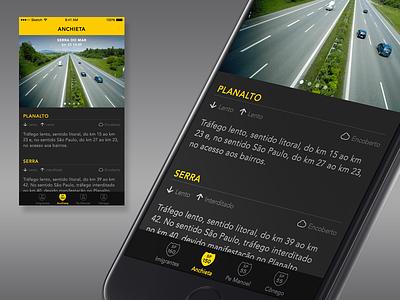 Traffic info traffic ios app interface ui iphone6