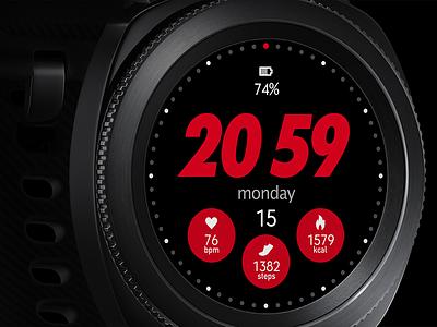 Sports Samsung Gear watch face ui sports smartwatch watchface
