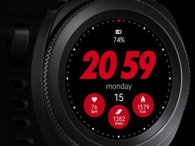 Sports Samsung Gear watch face
