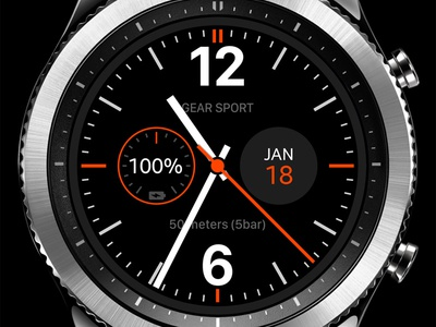 Analog watch face