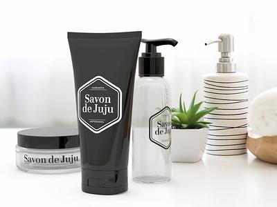 Savon de Juju packaging render beauty logo packaging 3d