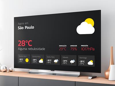 Weather App for Apple TV icon design apple tv weather app ui