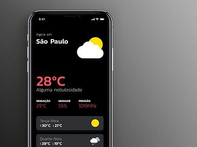 Weather App weather icon ios app design ui