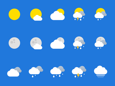 Weather icons ios icon design app ui
