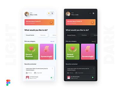 Medical app  🌟Neumorphism 🌟 neuomorphism health app healthcare app medical app figma design figmadesign ios mobile app design mobile app app ui ux ux design ui