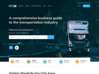 Online truck booking transportation truckbooking responsive simple website ui ux design ux ui