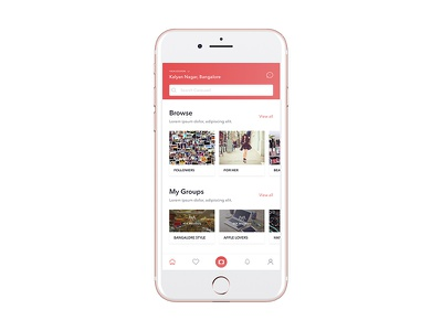 Carousell Home Page Redesign Concept simple mobile app buy sell ios ux ui