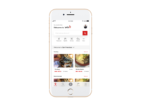 Yelp Home page iOS 11 design concept