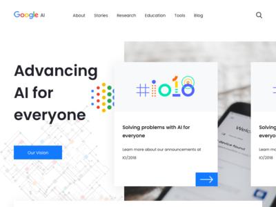 Google AI Website Concept Design