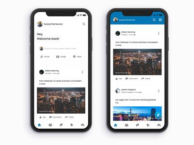 Linkedin app redesign concept