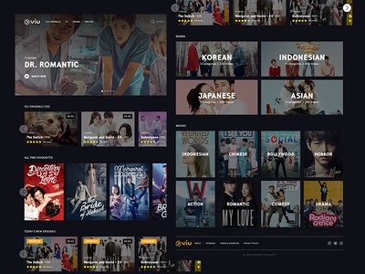 Website design for Movies & TV Shows Concept