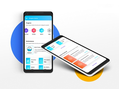 Elearning App - Progress Page Design concept
