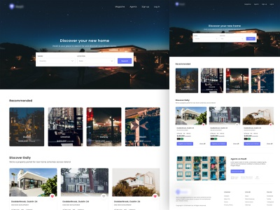 Real Estate - Landing Page web simple website design ux ui