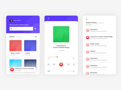 E-learning app ui elearning podcast audiobook ios mobile app mobile app design ux ui