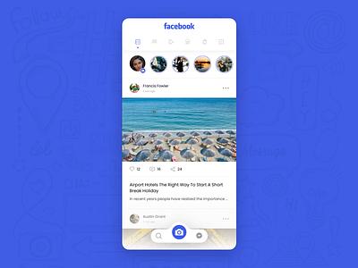 Facebook redesign concept mobile app design app mobile app mobile ui ux design ux ui