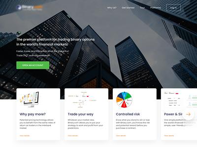 Online trading website online trading design responsive web simple website ui ux ux ui