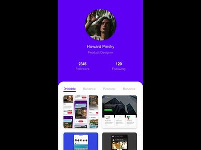 Design Portfolio concept prototype adobe xd ios mobile app mobile design ux ui