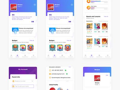 Parent zone - Disney Byju's Early Learn kids app elearning mobile app design mobile app app mobile design ux ui